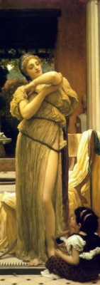 Frederic Leighton. Venus undresses