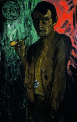 Отто Мюллер. Автопортрет с пентаграммой