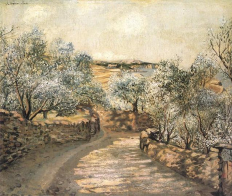 Salvador Dali. The lane to Port Lligat with view of cap Creus