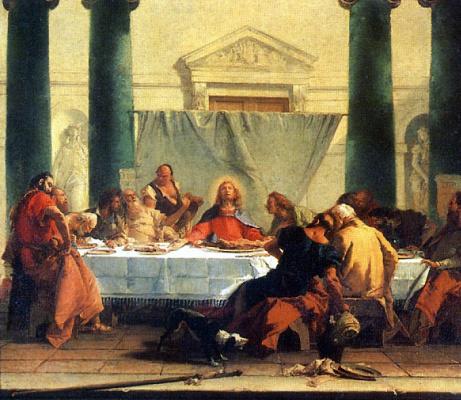 Giovanni Battista Tiepolo. Last supper