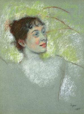 Edgar Degas. Portrait of Mademoiselle Solandri