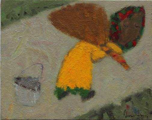 Art Eldar Ismailovic Orujov. C метлой