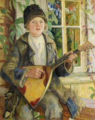 Nikolay Petrovich Bogdanov-Belsky. Boy with balalaika