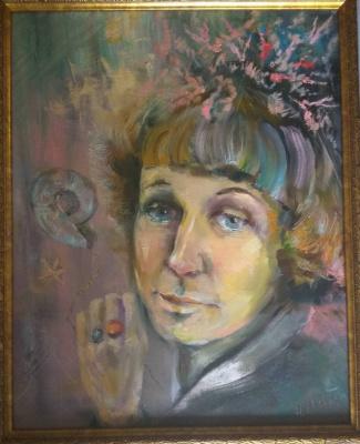 Наташа Монастырская. Portrait of the poet Tsvetaeva