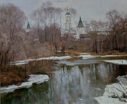 Boris Petrovich Zakharov. Spring in Borovsk