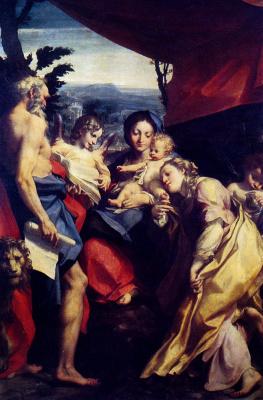 Антонио Корреджо. Мадонна и Святой Иероним