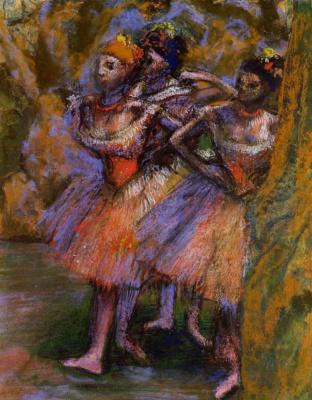 Edgar Degas. Three ballerina
