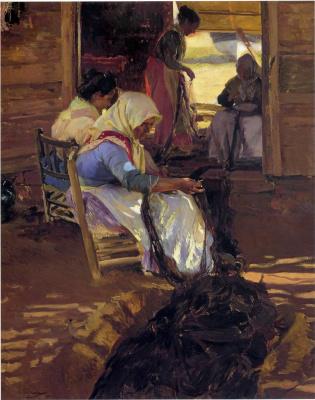 Хоакин Соролья (Соройя). Починка сети