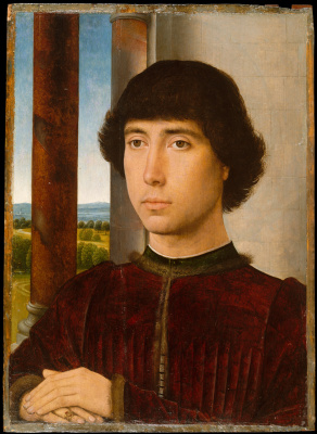 Hans Memling. Portrait of a young man