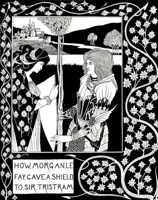 Aubrey Beardsley. How Morgan Le Fei gave the shield to Sir Tristram