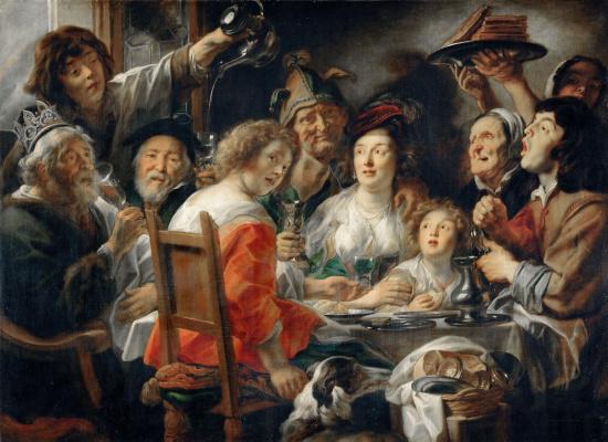 Jacob Jordaens. Bean king