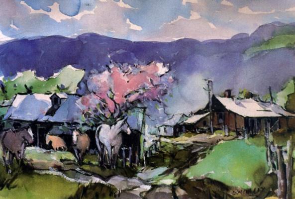 Джордж Калли. Весна на ранчо