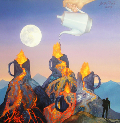 Lisa Ray. Volcanic tea party