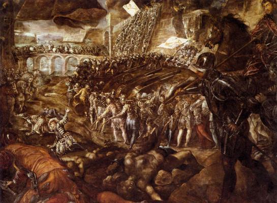 Jacopo (Robusti) Tintoretto. Federico II Gonzaga conquers Parma