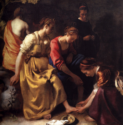 Jan Vermeer. Diana with nymphs. Fragment