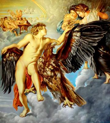 Valery Vasilyevich Litvinov. Abduction of Ganymede (copy of Rubens)