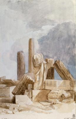 Жан-Пьер-Лоран Уэль. Скульптура и архитектурные фрагменты из мрамора