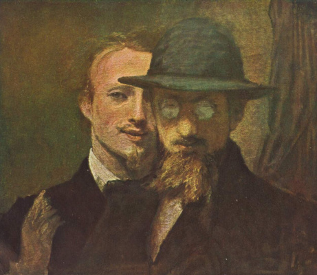 Hans von Mare. The self-portrait and a portrait of Lenbach