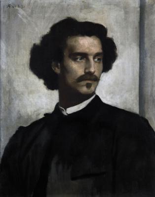 Anselm Frederick Feuerbach. Self-portrait