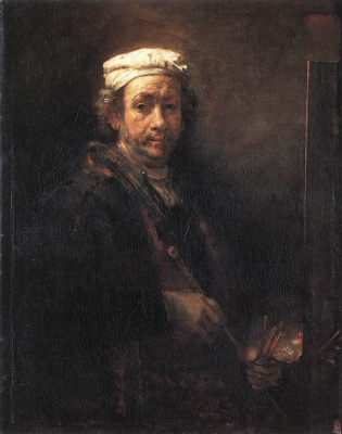 Rembrandt Harmenszoon van Rijn. Self-portrait at the easel