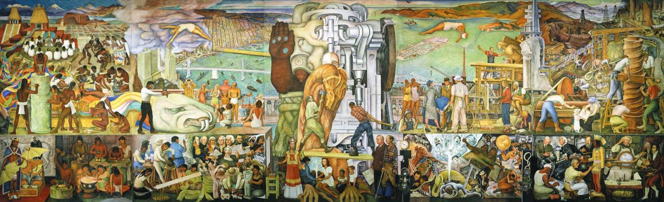 Diego Maria Rivera. Pan American unity