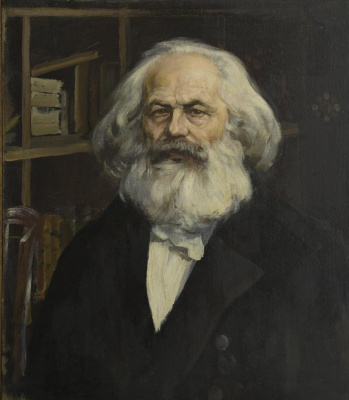 Pavel Petrovich Benkov. Portrait of Karl Marx