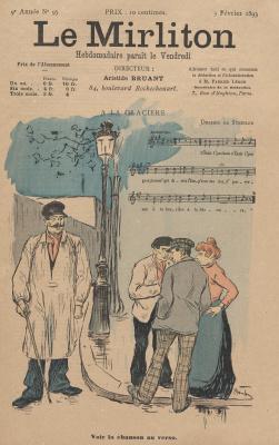 """Теофиль-Александр Стейнлен. Иллюстрация для журнала """"Мирлитон"""" № 95, 3 февраля 1893 года"""