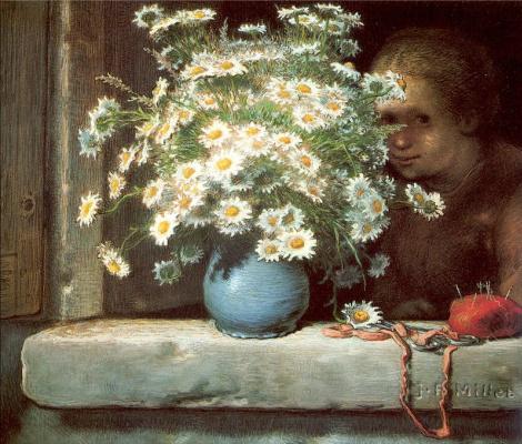 Jean-François Millet. Bouquet of daisies