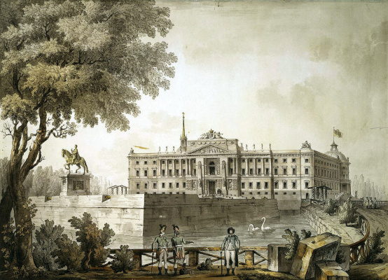 Giacomo Quarenghi. View of the Mikhailovsky castle