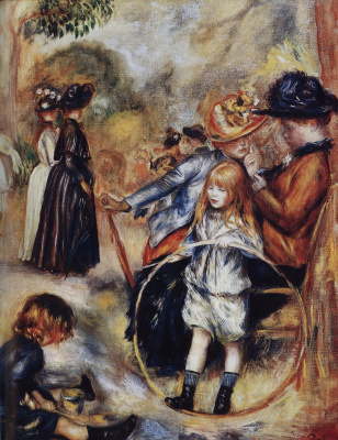 Pierre-Auguste Renoir. In the Luxembourg gardens