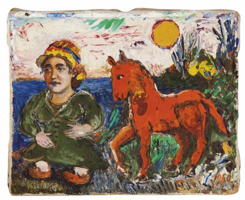 David Davidovich Burliuk. The red pony