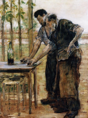 Jean-François Raffaelli. The Smiths are going to drink