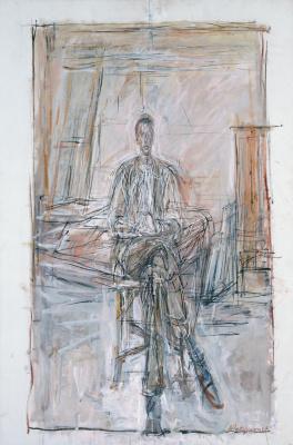 Альберто Джакометти. Сидящий мужчина