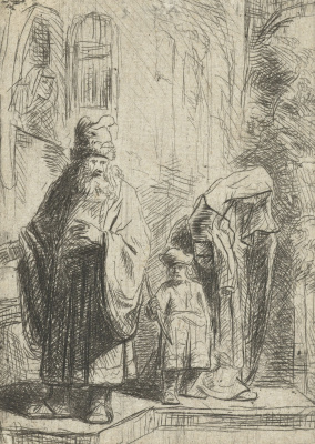 Jan Livens. Abraham casts out Hagar and Ishmael