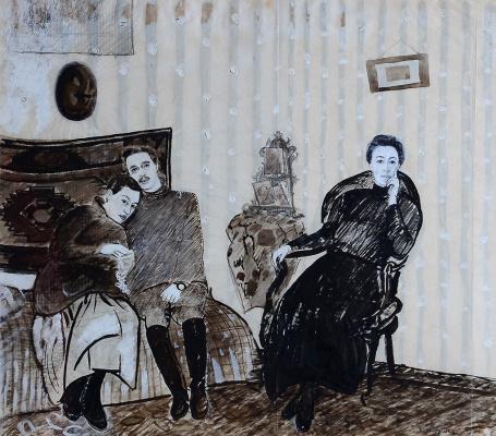 Petr Vasilyevich Miturich. Family portrait