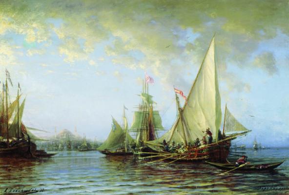 Alexey Petrovich Bogolyubov. Dardanelles. 1873 Voronezh Regional Art Museum. I. N. Kramskoy
