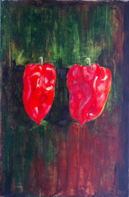Natalia Bagatskaya. Two red peppers