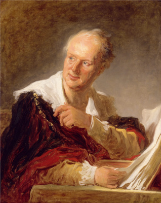 Jean Honore Fragonard. Portrait of a man (according to one version - Denis Diderot)