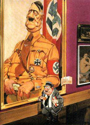 Джон Луркер. У портрета Гитлера