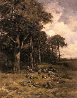 Шарль Эмиль Жак. Пастушка на отдыхе