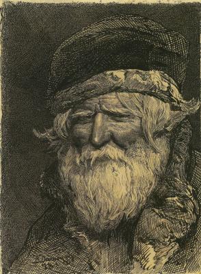 Victor Mikhailovich Vasnetsov. Head of a peasant