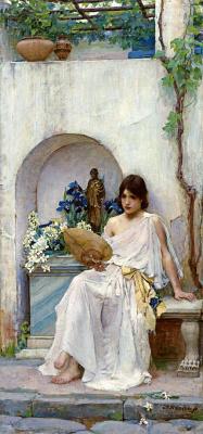 John William Waterhouse. Flora in a white dress
