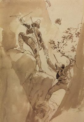 Karl Pavlovich Bryullov. Mountain hunters