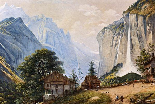 Анри Книп. Горный пейзаж