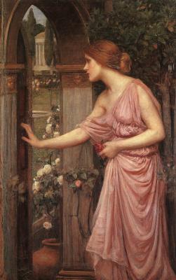 John William Waterhouse. Psyche entering the garden of Cupid