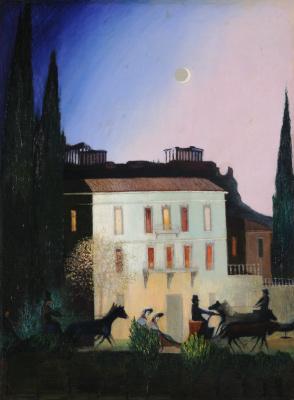 Tivadar Kostka Chontvari. Athens. Trip to new moon