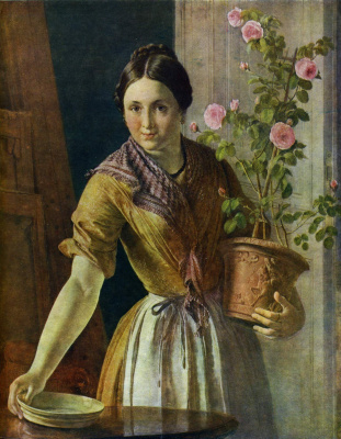 Vasily Andreevich Tropinin. Girl with roses