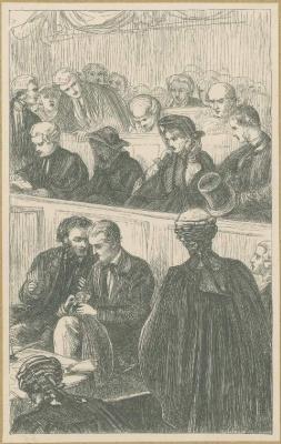 John Everett Millais. Court. Illustration for the works of Anthony Trollope