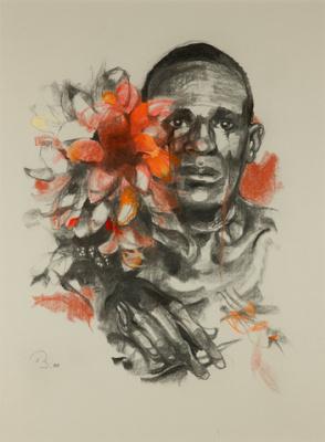 Рут Баумгарте. Красные цветы. Африка