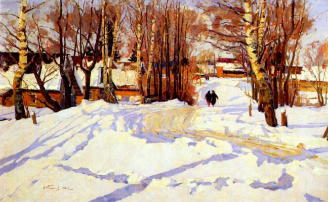 Nikolai Efimovich Timkov. Winter